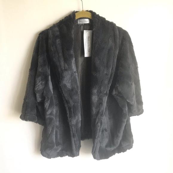 Vine Street Apparel Jackets & Blazers - Vine Street Gray Plush Jacket Size XL Unlined